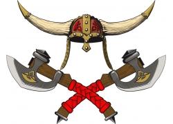 特色斧头与菱角帽子
