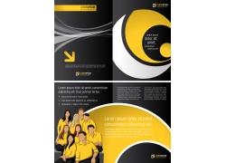 折页模板商务团队素材图片