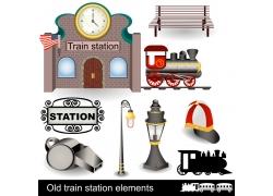 旧火车设计素材