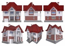 别墅洋房3D效果图