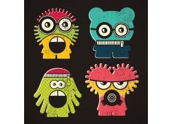 卡通拉链怪物图片