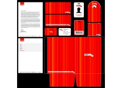 红色风格VI模板