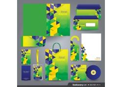 绿色公司vi设计模板