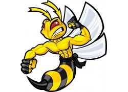 卡通大黄蜂超人图片