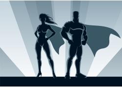 卡通超级英雄插画图片