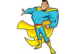 矢量卡通超人图片