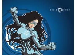 卡通美女超人图片