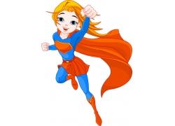 飞翔的超人美女图片