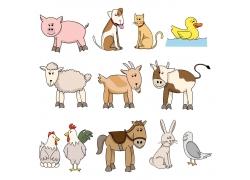 矢量动物漫画图片