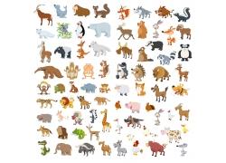 各种卡通动物集合