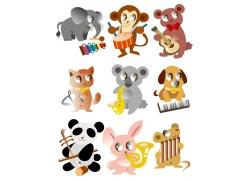 可爱的卡通动物